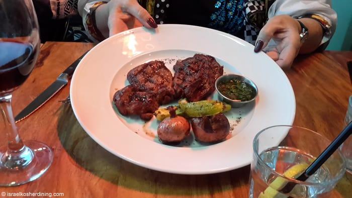 Entrecote prime rib steak