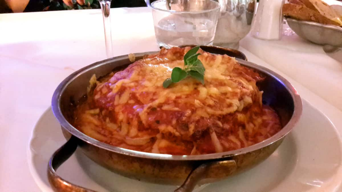 Piping hot lasagne