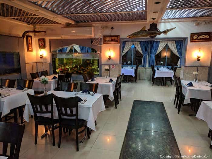 Ahavat Hayam's dining area