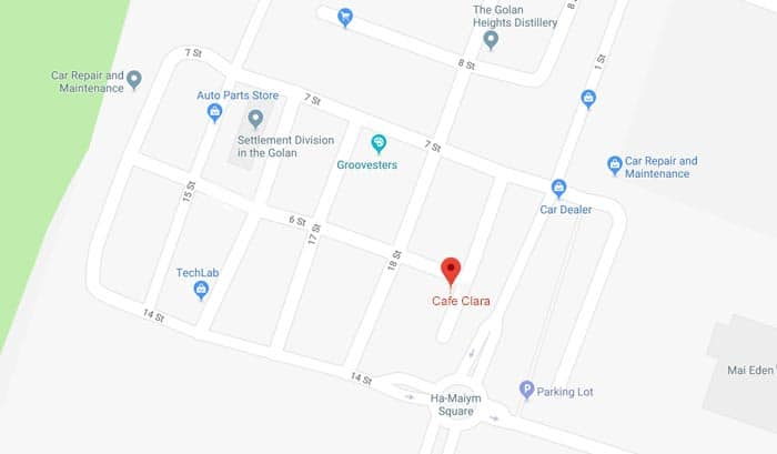 Location of Cafe Clara