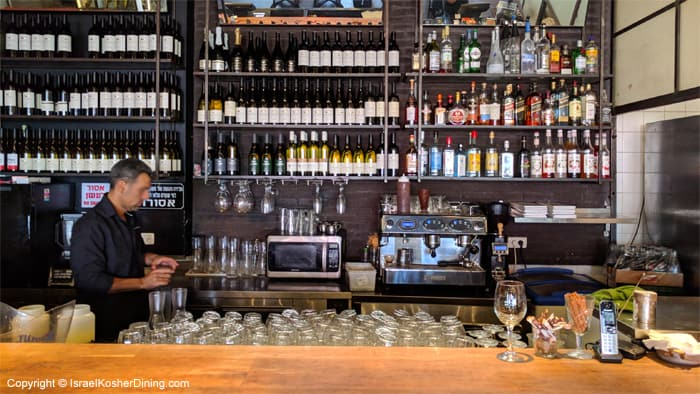 Lechem Basar's wine rack